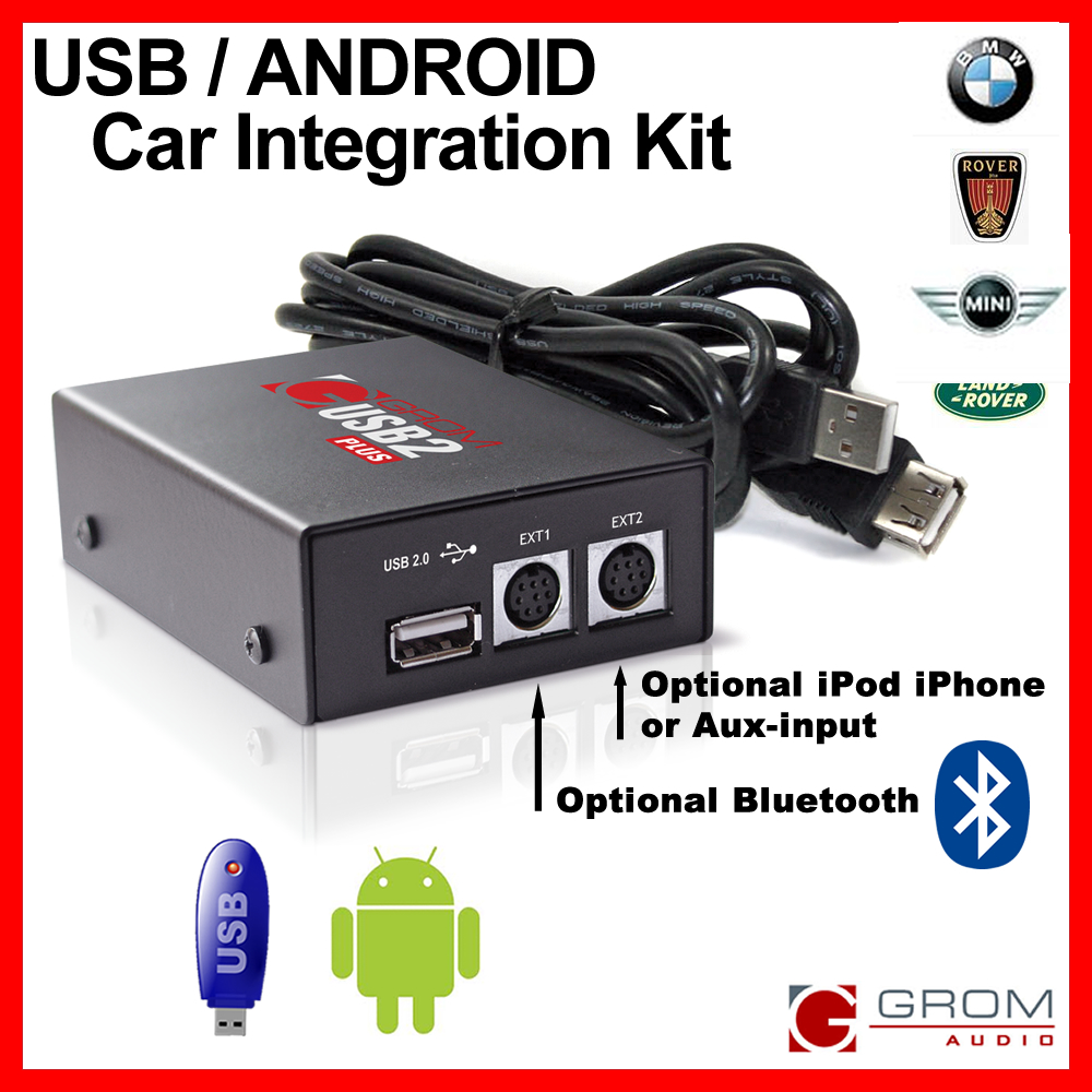 usb aux ipod android bluetooth car kit grom audio