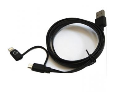 2 in 1 USB Cable for Android Phone and Apple iPhone Data Sync Transmit and Charging