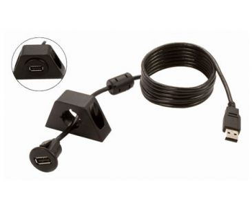 USB Extension Cable with two dash mounting options