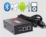 Top of the GROM line. Featuring USB, iPhone and Android Integration. Bluetooth and AUX capable with extra cables.